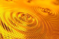 Gold ripples. Stock Illustration