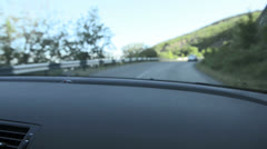 Driving a car. Inside shoot - stock footage