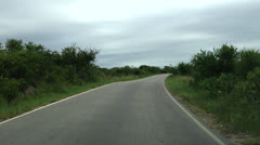 Driving a Car on a Country Road -POV - stock footage