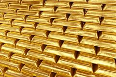 Stacked gold bars - stock illustration