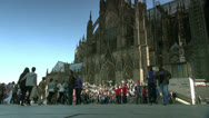 Germany Cologne Cathedral Stock Footage
