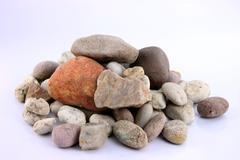 the numerous stones. - stock photo