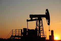 Oil production. oil pumps Russia Stock Photos