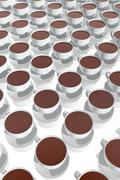 Stock Illustration of several chocolate cups