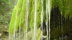 Silver streams of waterfall Stock Footage