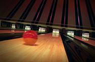 Stock Illustration of Ten-pin bowling shot.