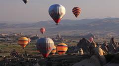 Stock Video Footage of Capadokia baloons