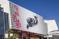 The Palais des Festivals in Cannes Stock Photos