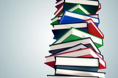 Pile of books. - stock illustration