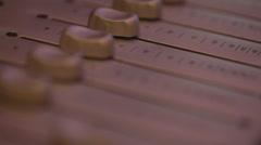 Audio console Stock Footage