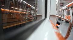 Ottaviano subway station in Rome, Italy Stock Footage