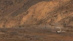 Himalayas Mountains Airplane take off Stock Footage