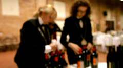Sommeliers at work. Stock Footage