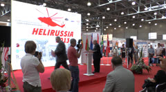 International Exhibition of Helicopter Industry Stock Footage