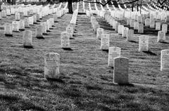 Arlington National Cemetery Black and White Stock Photos