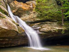 Cedar Falls Waterfall - stock photo
