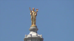 Wisconsin Statue on Capitol - Madison, WI Stock Footage