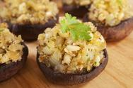 Stock Photo of stuffed mushrooms