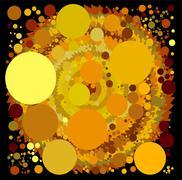 abstract spherical luminous gold stars - stock illustration