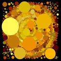 Stock Illustration of abstract spherical luminous gold stars