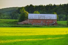 old weathered barn in stowe vt, usa - stock photo