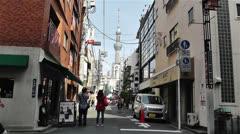 Tokyo Asakusa  Japan 9 skytree Stock Footage