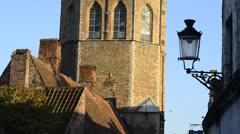 The Jerusalem Church in Bruges, Belgium Stock Footage