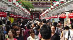 Tokyo Asakusa  Japan 15 crowd - stock footage
