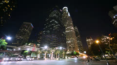 Los Angeles timelapse at night Stock Footage