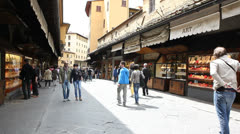Jewellery shops street in Florence Stock Footage