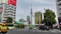 Tokyo Asakusa  Japan 19 skytree Stock Footage