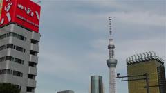 Tokyo Asakusa  Japan 20 skytree Stock Footage