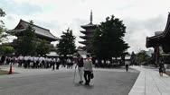 Stock Video Footage of Tokyo Asakusa Senso Ji Temple Japan 1
