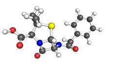 Penicillin molecule Stock Footage