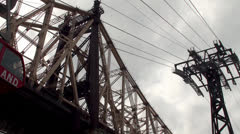 A new Roosevelt Island Tram car cableway in operation, NYC Stock Footage