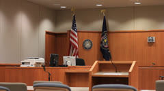 Courtroom Stock Footage