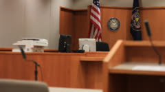 Courtroom - stock footage