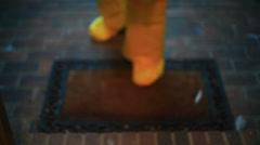 checking house radiation radioactivity 1 - stock footage