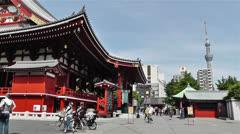 Tokyo Asakusa Senso Ji Temple Japan 23 Stock Footage