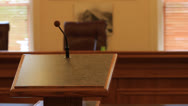 Stock Video Footage of Speakers podium