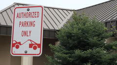 Authorized Parking Only Stock Footage