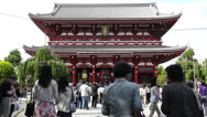 Stock Video Footage of Tokyo Asakusa Senso Ji Temple Gate Japan 25
