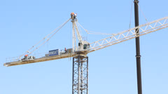 Riggers Assemble Large Crane Stock Footage