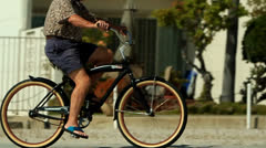 Slow Motion Bicycle Rider Stock Footage