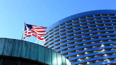 Corporate America Flag Stock Footage