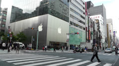 Tokyo Ginza Japan 9 apple store Stock Footage