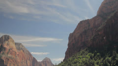 Zion national park skyline Stock Footage