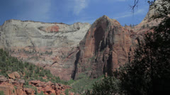 Skyline at zion national park Stock Footage