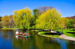 Sightseeing by Swan boat - stock photo