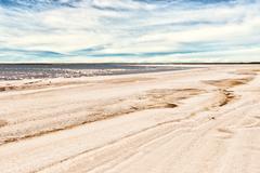 Salty shoreline Stock Photos
